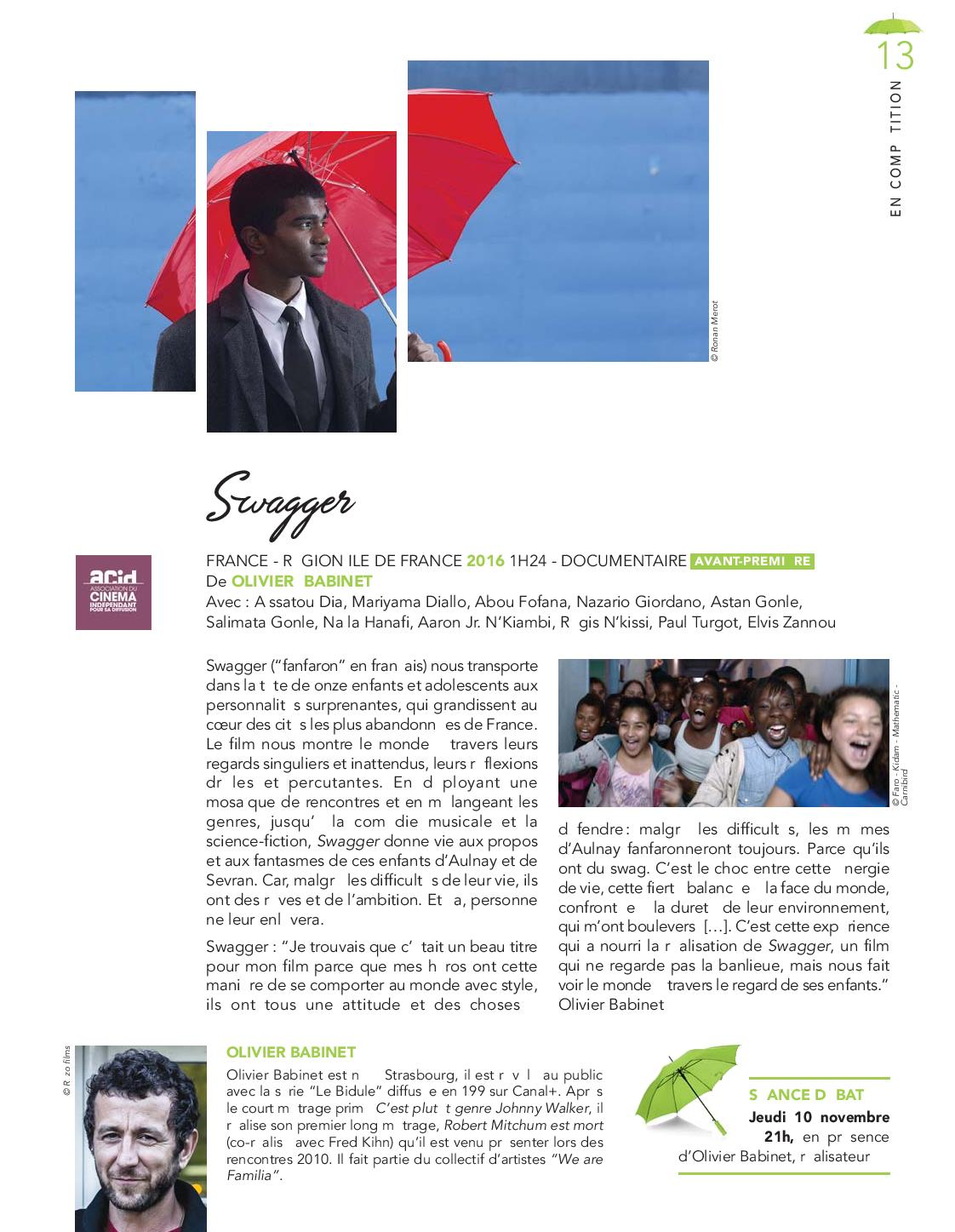 Swagger rencontre jeudi 10 novembre 21h - Programme cinema 400 coups angers ...