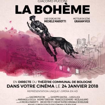 La bohèmeOpéra filmé /séance unique